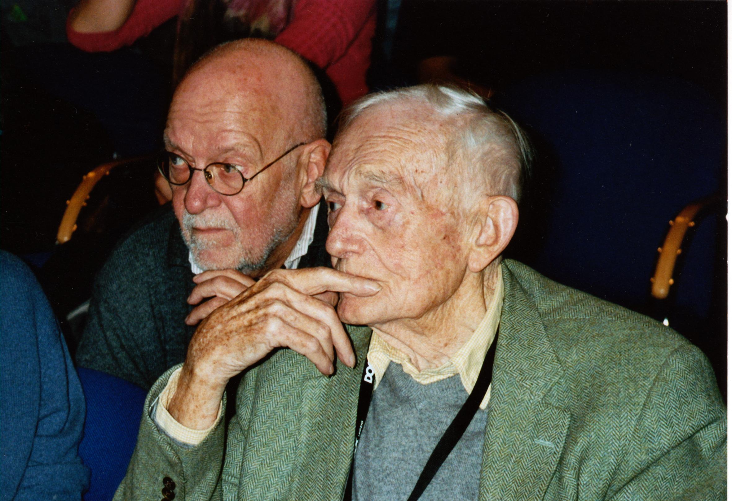 Klaus Wildenhahn (l.) und Richard Leacock (r.)